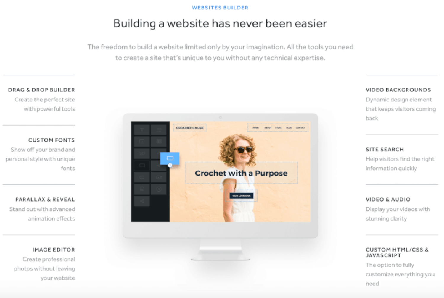 Weebly site builder features
