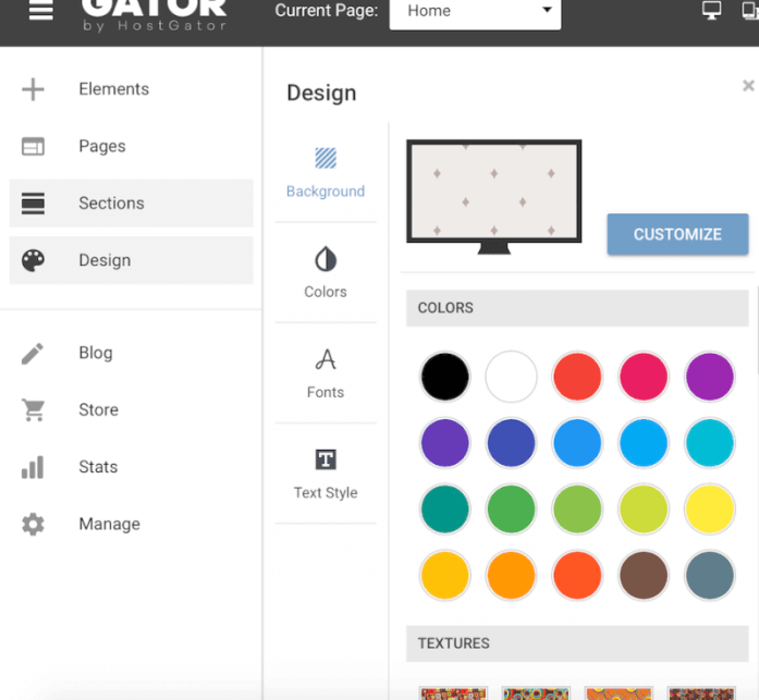 Customizing the Gator site design