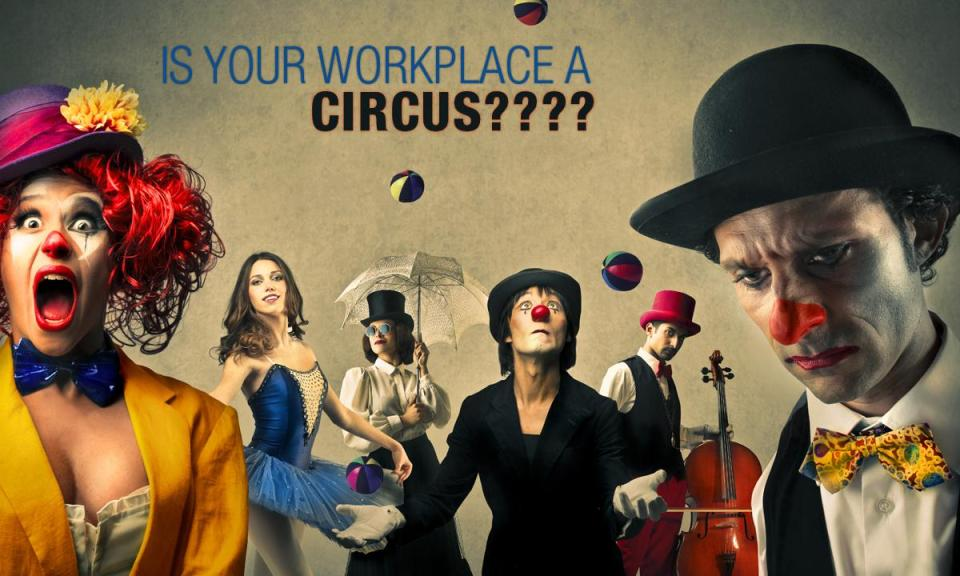 circus workplace - Is your workplace a CIRCUS????