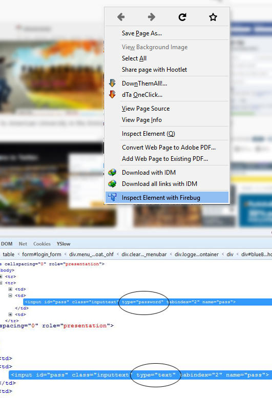 How to Reveal, View Passwords hidden under Asterisks/Stars   My