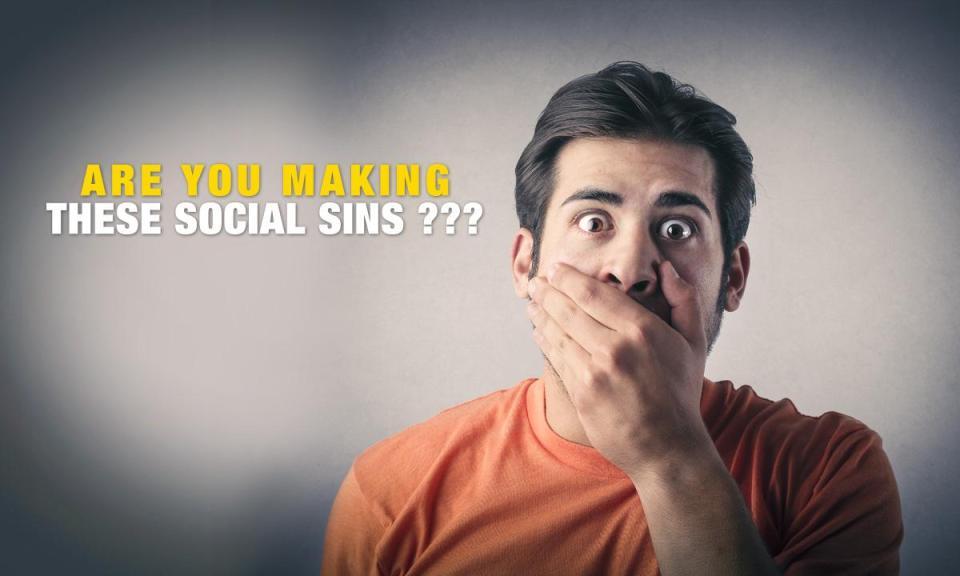 sins - The 3 Social Sins that Fail Your Social Media Marketing