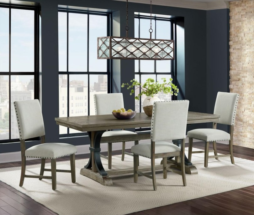Dining Set with Upholstered Dining Chairs
