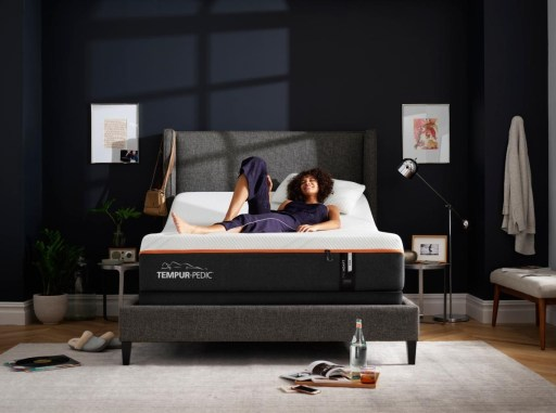 Adjustable Base Bed with Woman in Bedroom
