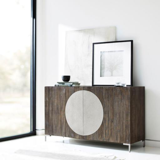 Modern Two-Tone Console Table