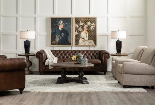 Living Room with Mod Art