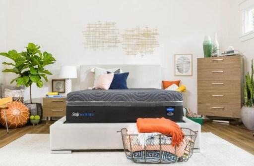 Sealy Mattress in Bright Bedroom