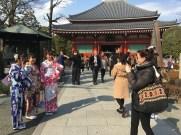 Me taking photo of 3 geishas