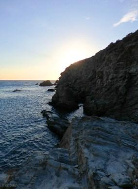 Sunset at Ambeli's rocks