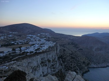 Chora is built on the edge of a cliff. The view is so fascinating!