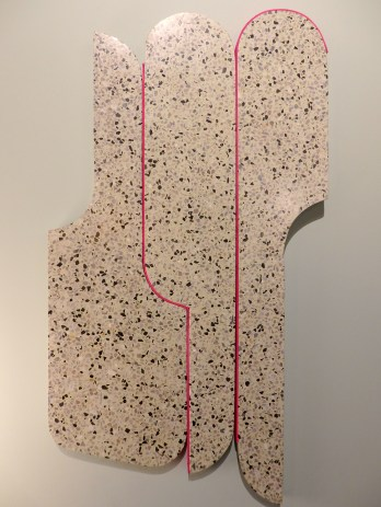 Decorative wall piece by terrazzo at Arflex