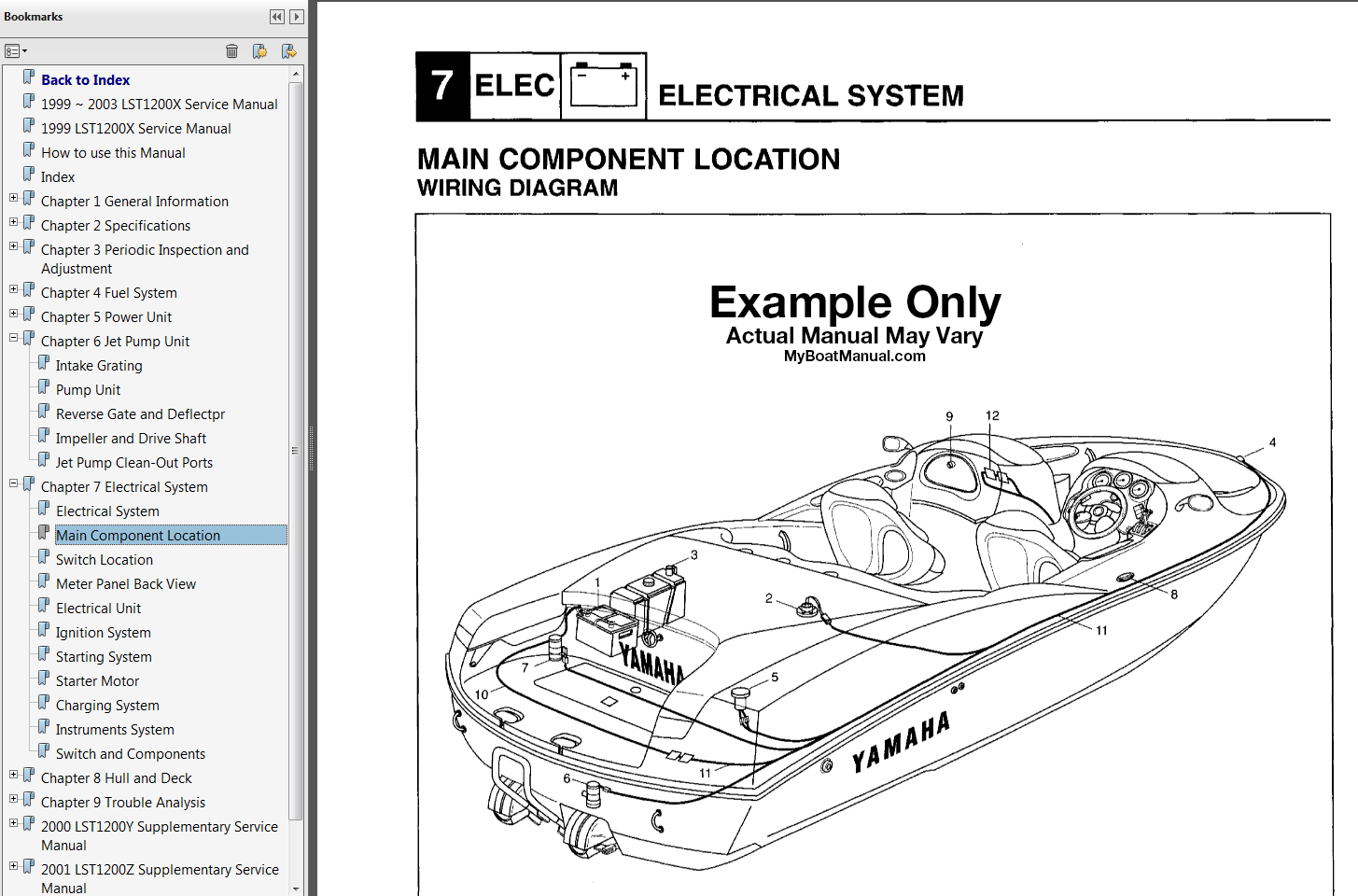 1999 ar210 boat service manual