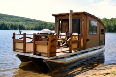 wooden house boat plans