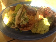 fish tacos (I didn't eat the beans)