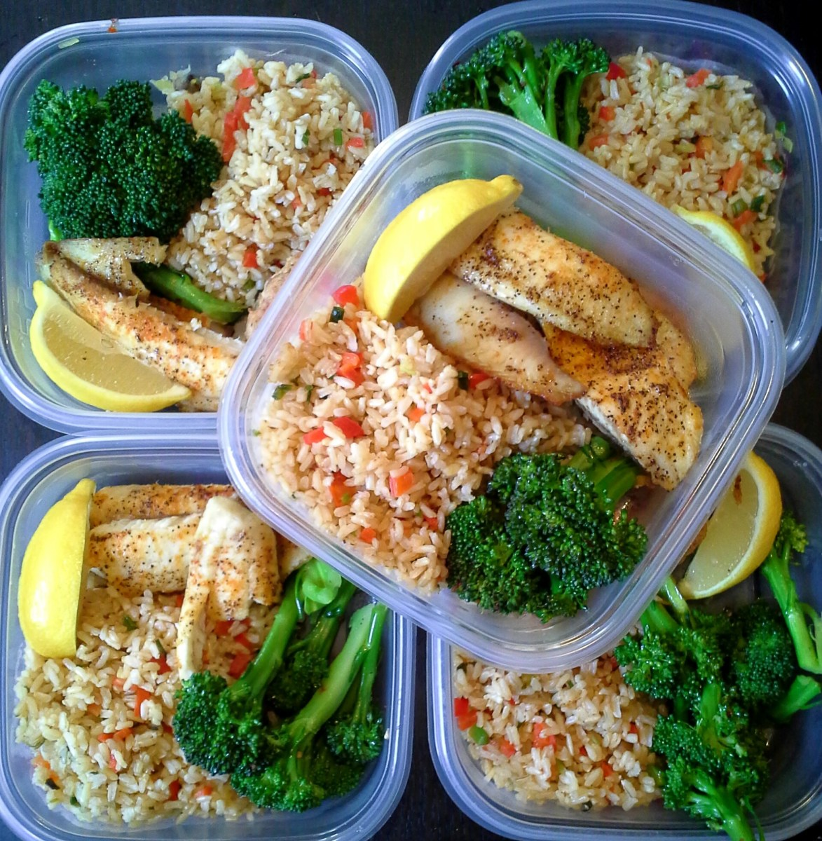 Meal Prep: Tilapia, Rice And Broccoli