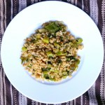 Green vegetable rice - vegan and gluten free