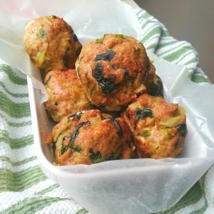 Baked Spinach Turkey Meatballs