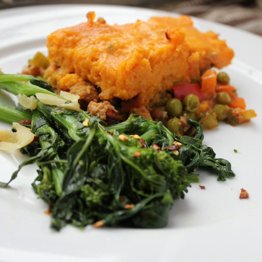 freezer friendly sweet potato turkey shepherd's pie