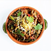 Eggplant Kale Keto Turkey Chili