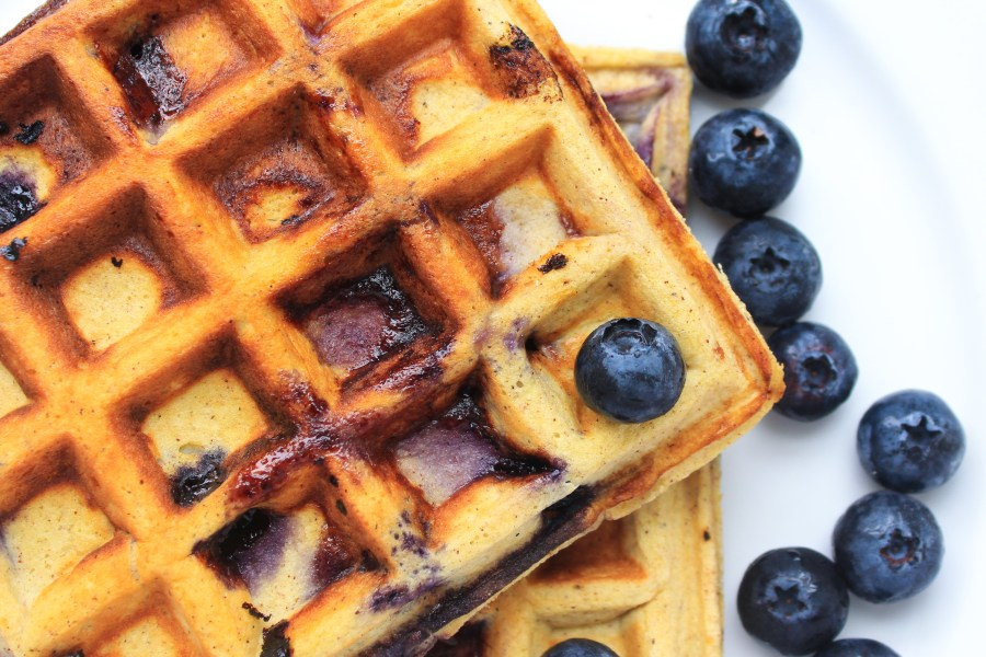 Blueberry Ketogenic Gluten Free Waffles