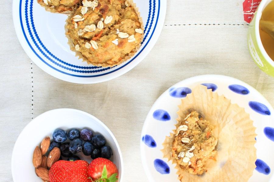 Carrot Apple Oat Muffins with Gluten free Breakfast