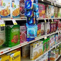 nutrition labels - cereal aisle