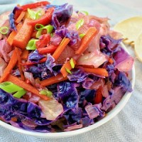 Colorful Steamed Cabbage with Carrots and Peppers (Vegan Gluten Free)