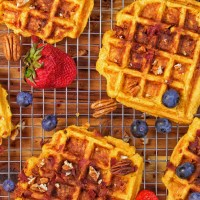 Sweet Potato Bacon Waffles 2 - My Body My Kitchen