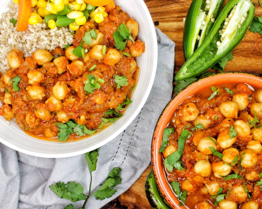 Chickpea (Chana) masala Indian Curry Vegan My Body My Kitchen