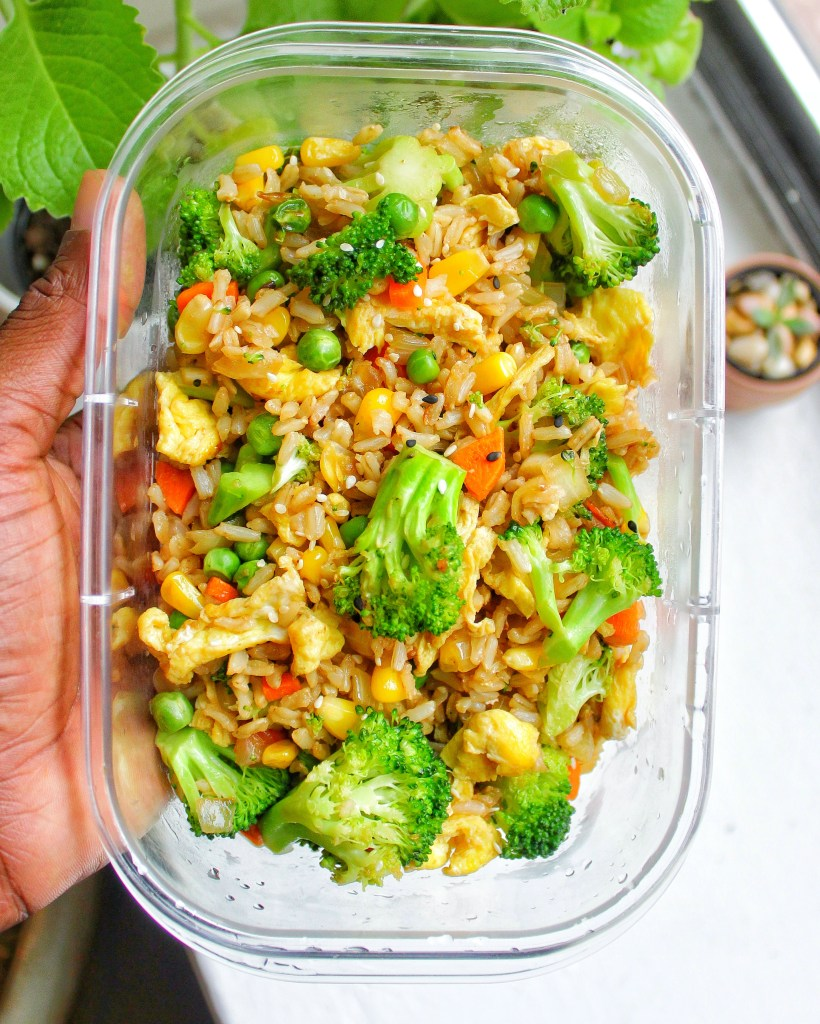 Vegetable Fried Rice Vegetarian My Body My Kitchen container