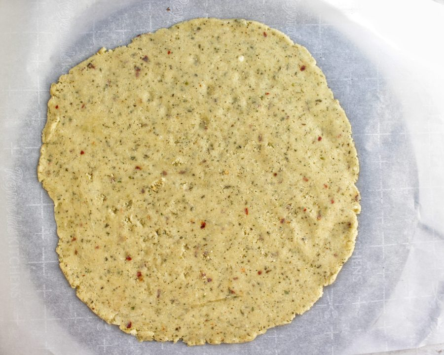 Low Carb Pizza Crust raw dough