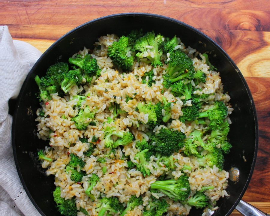 Garlic Cheddar Broccoli Brown Rice My Body My Kitchen