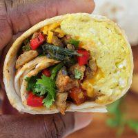 Make ahead freezer friendly Chicken Sausage Breakfast Burrito My Body My Kitchen
