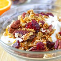 Orange Pecan Granola My Body My Kitchen Whole Grains Breakfast Greek Yogurt