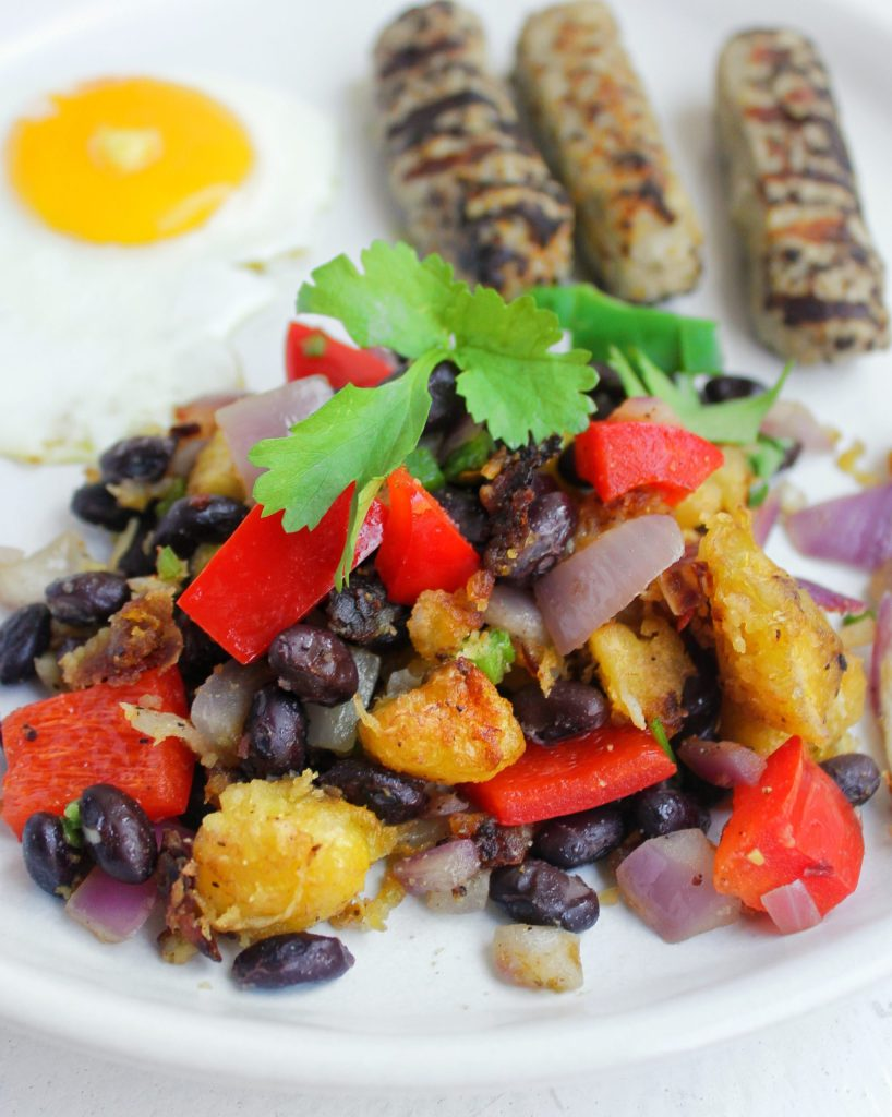 Plantain Black Bean Hash My Body My Kitchen