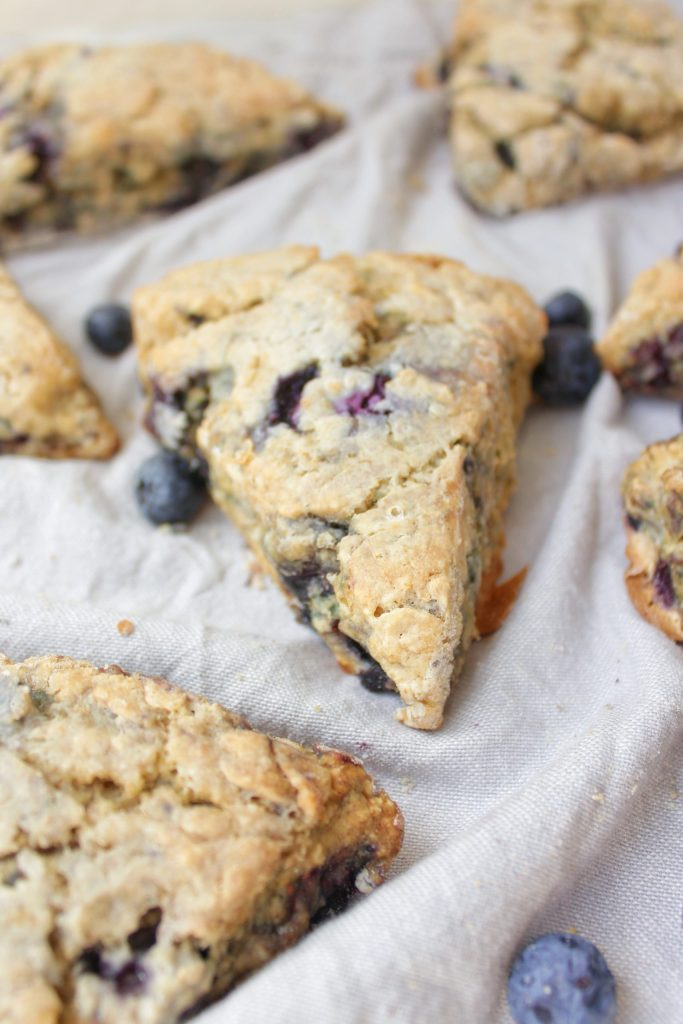 Banana & Roasted Blueberry Scones - My Body My Kitchen