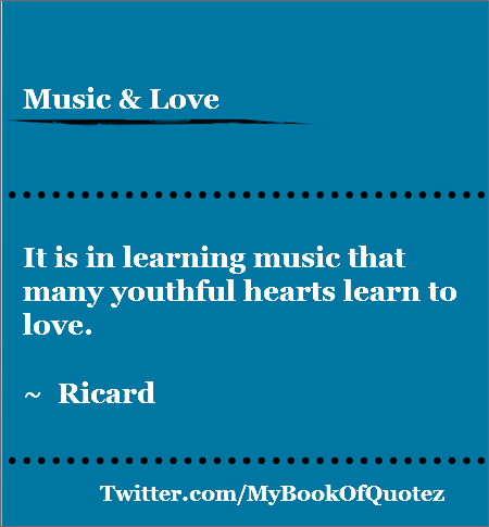 music and love - Ricard