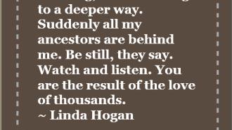 Walking, I am listening to a deeper way...