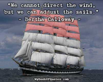 We cannot direct the wind Quote