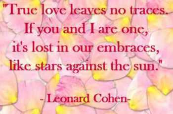 Love Leaves No Traces Poem