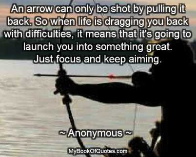 Arrow Quotes Life New Bow And Arrow Quotes  Mybookofquotes