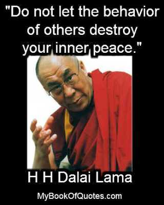 Do not let the behavior of others destroy your inner peace Poster