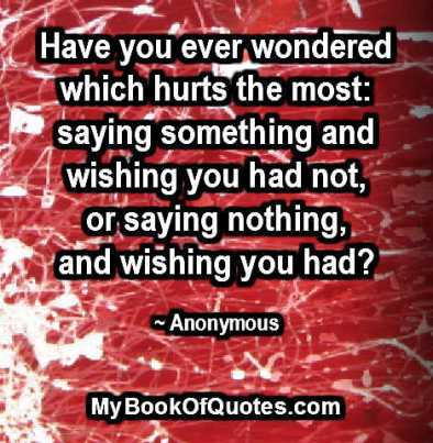 Have you ever wondered which hurts the most