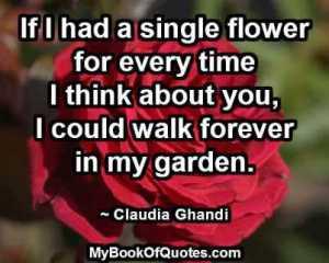 If I had a single flower