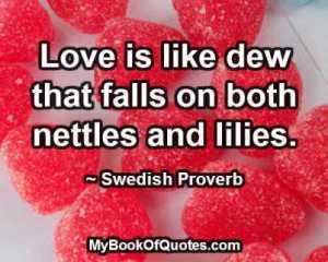 Love is like dew