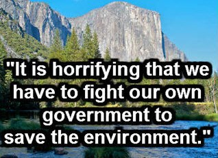"""It is horrifying that we have to fight our own government to save the environment."" ~ Ansel Adams"