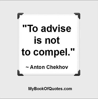 To advise is not to compel