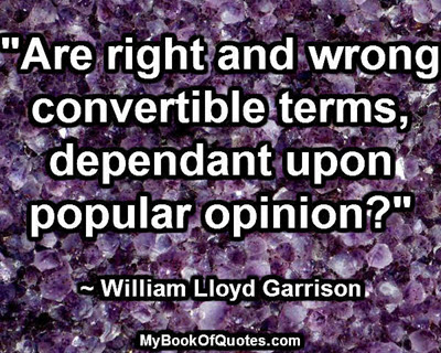 Are right and wrong convertible terms