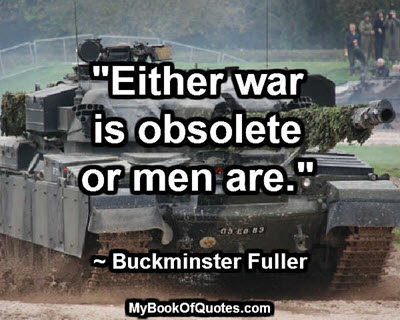 war or men obsolete