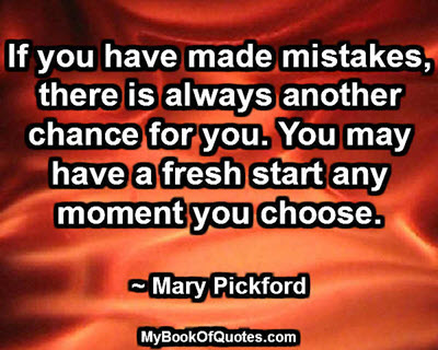 If you have made mistakes