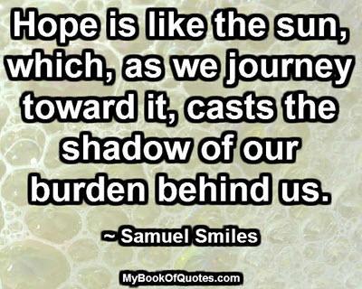 Hope is like the sun
